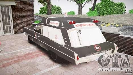 Cadillac Wildlife Control para GTA 4 vista hacia atrás