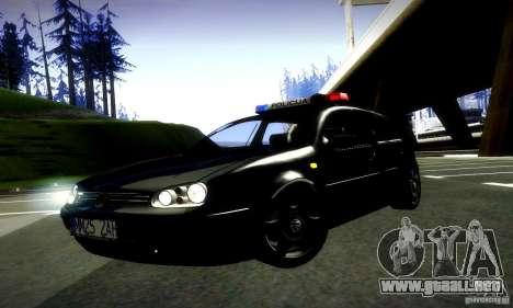Volkswagen Golf Police para la visión correcta GTA San Andreas