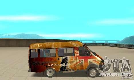 Gacela kulnev obezbašennaâ para GTA San Andreas vista posterior izquierda