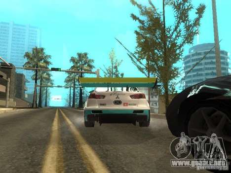 Mitsubishi Lancer Evo X Trailblazer Dirt2 para la visión correcta GTA San Andreas