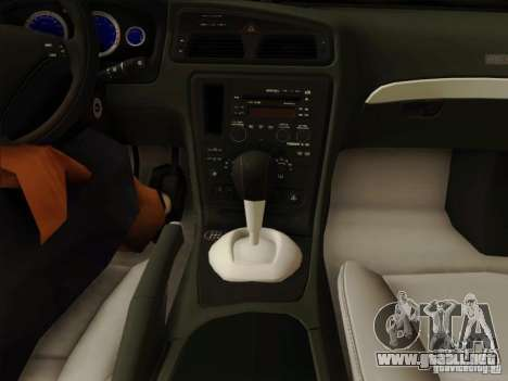 Volvo S60 para vista inferior GTA San Andreas
