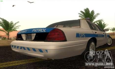 Ford Crown Victoria Arizona Police para GTA San Andreas left