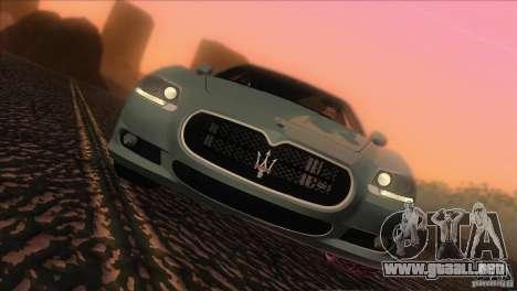 Maserati Quattroporte Sport GT V1.0 para GTA San Andreas vista posterior izquierda