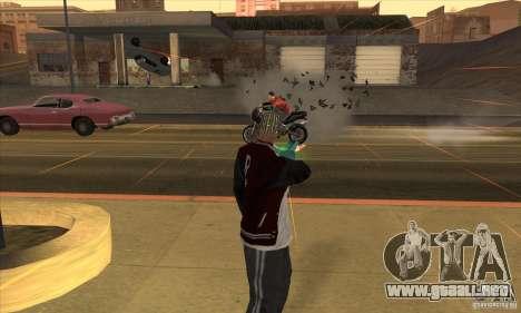 GraviPuška para GTA San Andreas sucesivamente de pantalla