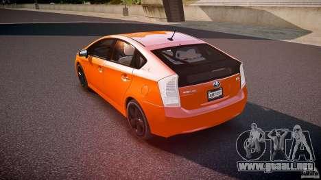 Toyota Prius 2011 para GTA 4 Vista posterior izquierda