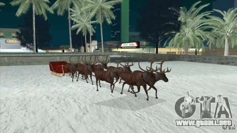 Tiene equipo de Papá Noel para GTA San Andreas vista hacia atrás