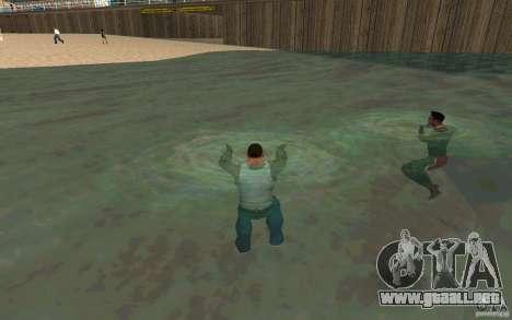 Las personas son capaces de nadar para GTA San Andreas