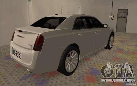 Chrysler 300C para GTA San Andreas vista posterior izquierda