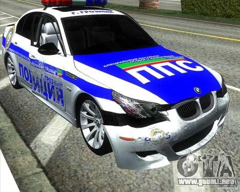 BMW M5 E60 policía para las ruedas de GTA San Andreas