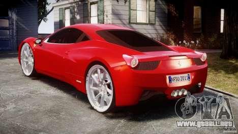 Ferrari 458 Italia Dub Edition para GTA 4 vista lateral