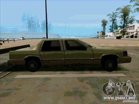 Una limusina corta para GTA San Andreas vista hacia atrás