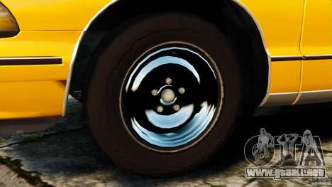 Chevrolet Caprice 1991 LCC Taxi para GTA 4 vista interior