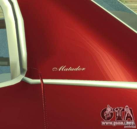 AMC Matador para GTA 4 vista interior