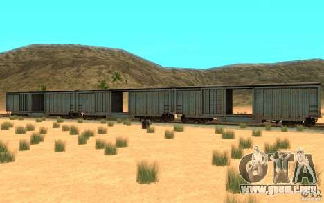 San Andreas Beta Train Mod para GTA San Andreas vista posterior izquierda