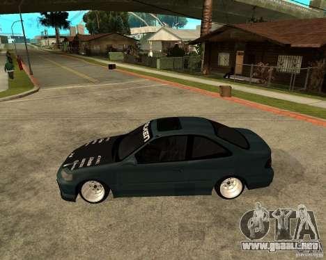 Honda Civic Coupe V-Tech para GTA San Andreas left