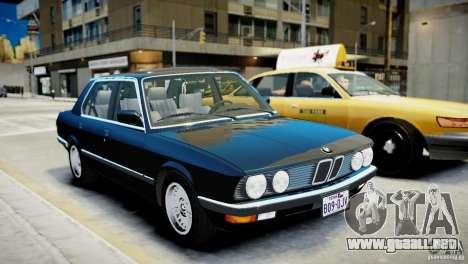 BMW 535 E28 para GTA 4 left