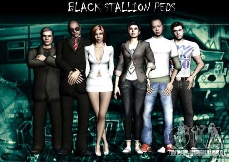 Black Stallion Peds para GTA San Andreas