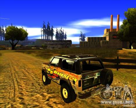 Blazer XL FlatOut2 para GTA San Andreas vista posterior izquierda