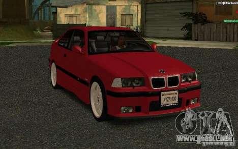 BMW E36 M3 1997 Coupe Forza para GTA San Andreas vista hacia atrás