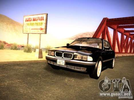 BMW 730i e38 1997 para la visión correcta GTA San Andreas