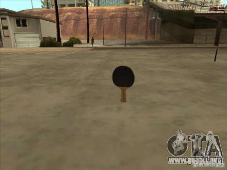 Raqueta de tenis para GTA San Andreas tercera pantalla