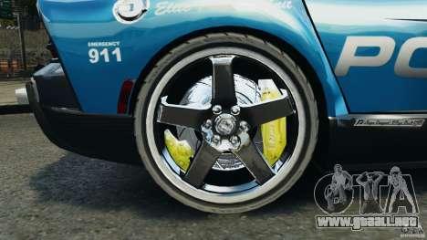 Dodge Viper SRT-10 ACR ELITE POLICE para GTA 4 vista hacia atrás