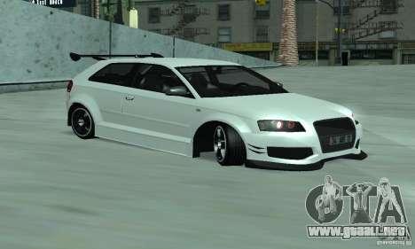 Audi S3 Full tunable para GTA San Andreas left