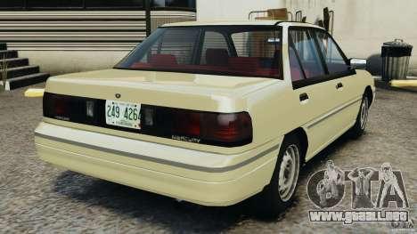 Mercury Tracer 1993 v1.1 para GTA 4 Vista posterior izquierda