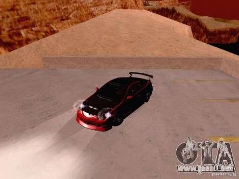 Acura RSX Drift para GTA San Andreas vista hacia atrás