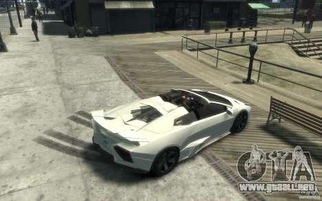 Lamborghini Reventon Roadster REDUX [EPM] para GTA 4 visión correcta