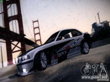 BMW M3 E36 320i Tunable para visión interna GTA San Andreas