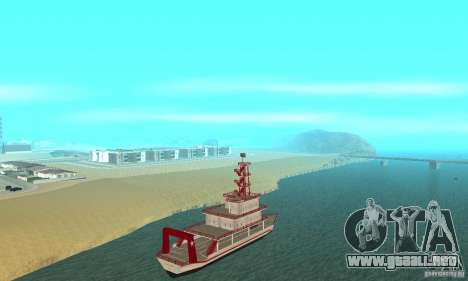 Vice City Ferryboat para GTA San Andreas vista posterior izquierda