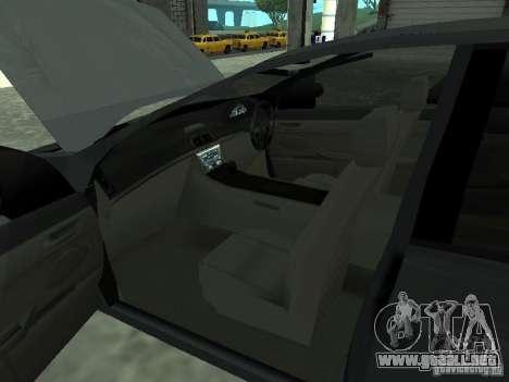 Holden Calais para GTA San Andreas vista posterior izquierda