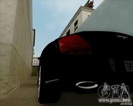 Bentley Continental GT V1.0 para visión interna GTA San Andreas