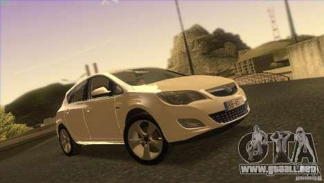 Opel Astra 2010 para vista inferior GTA San Andreas