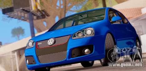 VW Golf V GTI 2006 para GTA San Andreas vista posterior izquierda