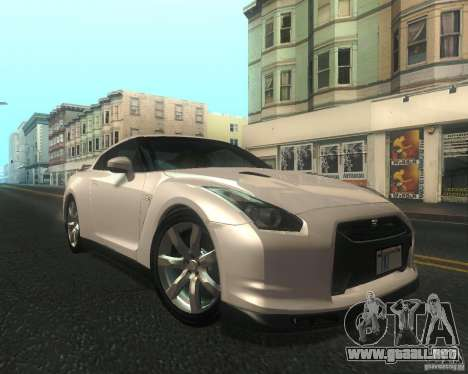 Nissan GTR R35 Spec-V 2010 Stock Wheels para visión interna GTA San Andreas