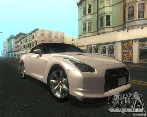 Nissan GTR R35 Spec-V 2010 Stock Wheels para visión interna GTA San Andreas
