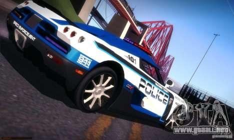 Koenigsegg CCX Police para la vista superior GTA San Andreas