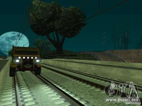 Línea ferroviaria de alta velocidad para GTA San Andreas octavo de pantalla