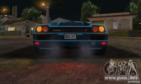 Lamborghini Diablo SV V1.0 para vista lateral GTA San Andreas