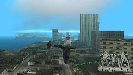 Spitfire Mk IX para GTA Vice City left