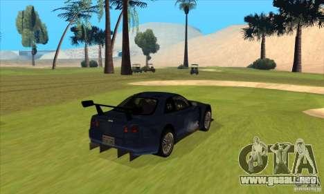Nissan Skyline R34 GT-R LM para la visión correcta GTA San Andreas