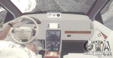 Volvo XC90 V8 2008 para visión interna GTA San Andreas