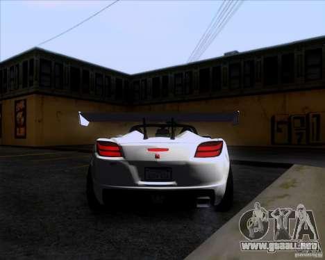 Saturn Sky Roadster para la visión correcta GTA San Andreas