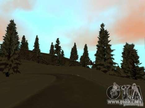 Camino de invierno para GTA San Andreas sexta pantalla