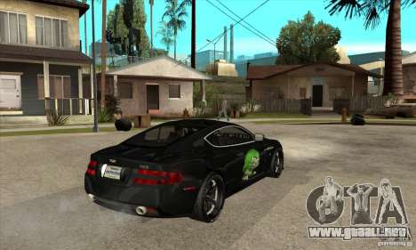 Aston Martin DB9 NFS PS Tuning para la visión correcta GTA San Andreas