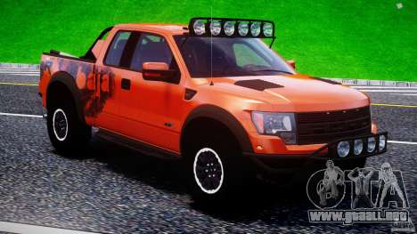 Ford F150 Racing Raptor XT 2011 para GTA motor 4