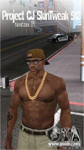 Navetsea CJ Skin Tweak 512 r2 para GTA San Andreas sucesivamente de pantalla