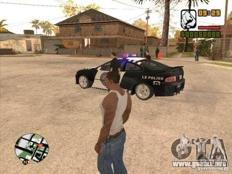 Call the Police para GTA San Andreas sucesivamente de pantalla